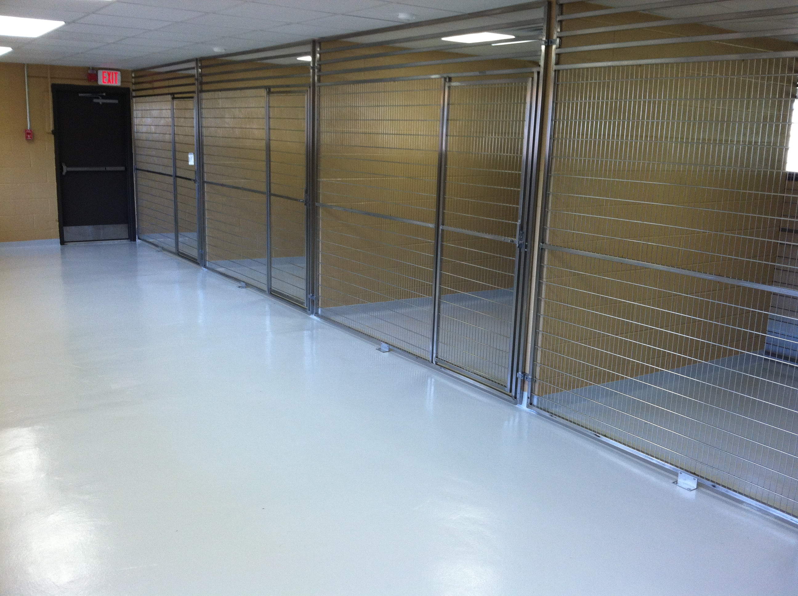 Chemical Resistant Finish On Kennel Project Durex