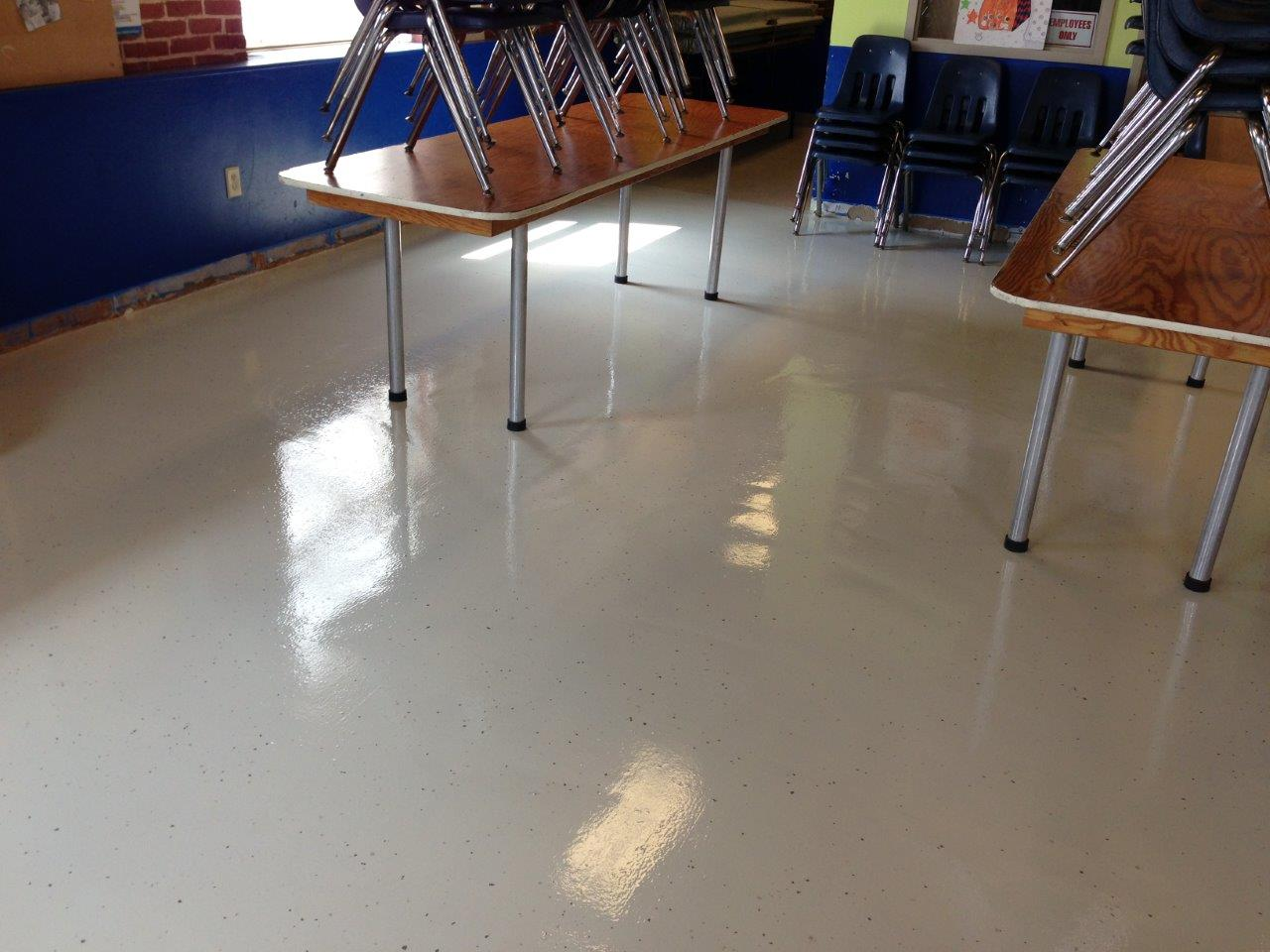Seamless Resilient Poured Flooring DUREX Seamless Floor Wall - Poured acrylic floor
