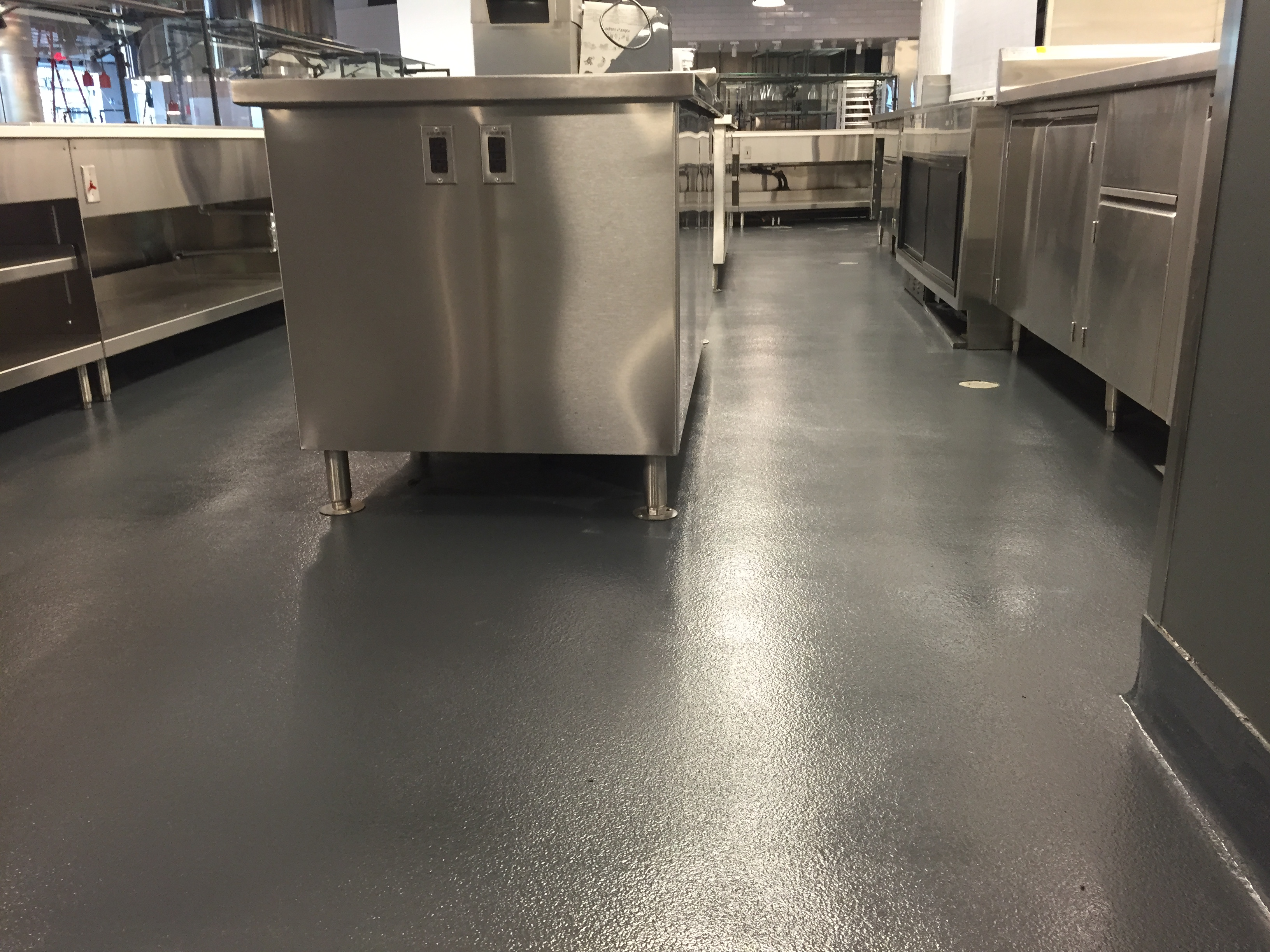 Epoxy Kitchen Flooring Large University Kitchen Durex Seamless Floor Wall Systems