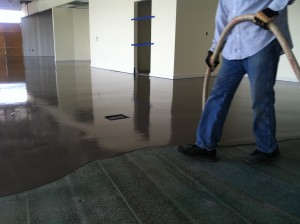 Self leveling cement polymer underlayment gypcrete - Exterior concrete leveling products ...