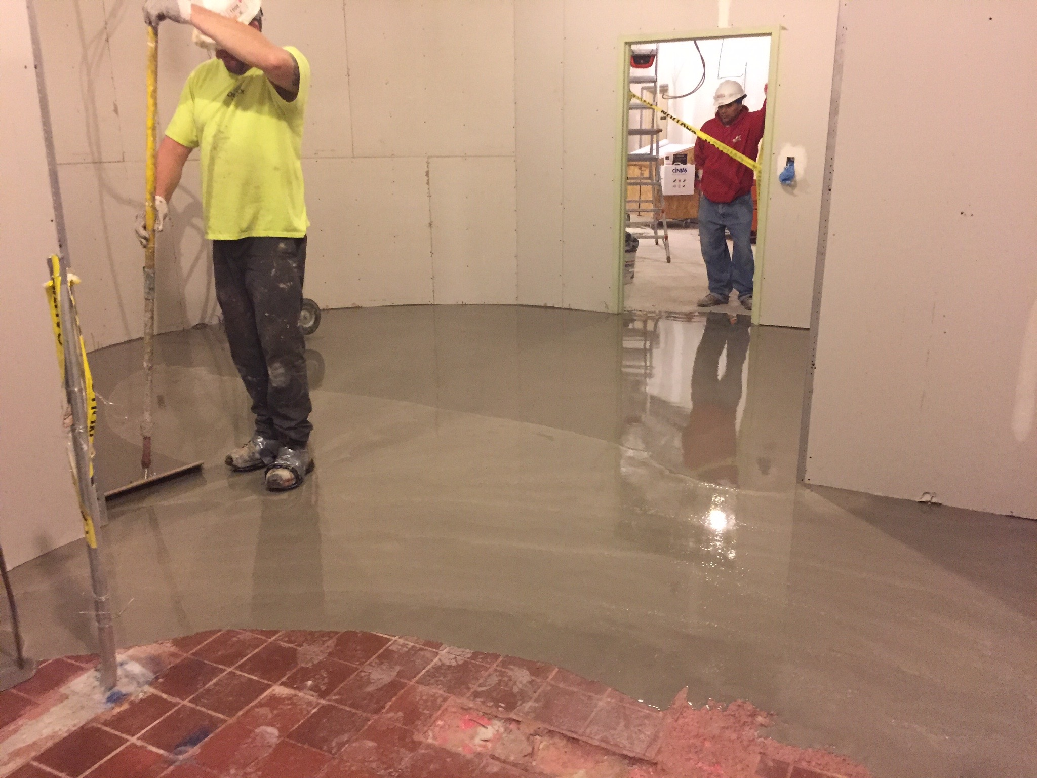 Substrate repair self leveling underlayment durex seamless since the quarry tile was structurally sound eliminating the demolition step in the process saved both time in the schedule as well as cost dailygadgetfo Image collections